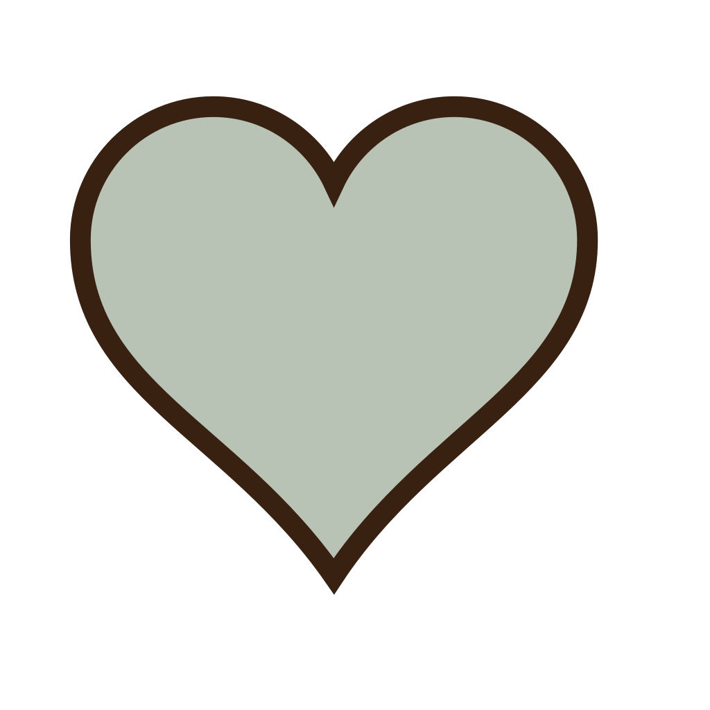 Heart, Green, Brown SVG Clip arts