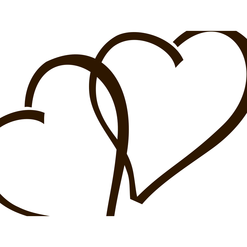Deep Brown Hearts SVG Clip arts