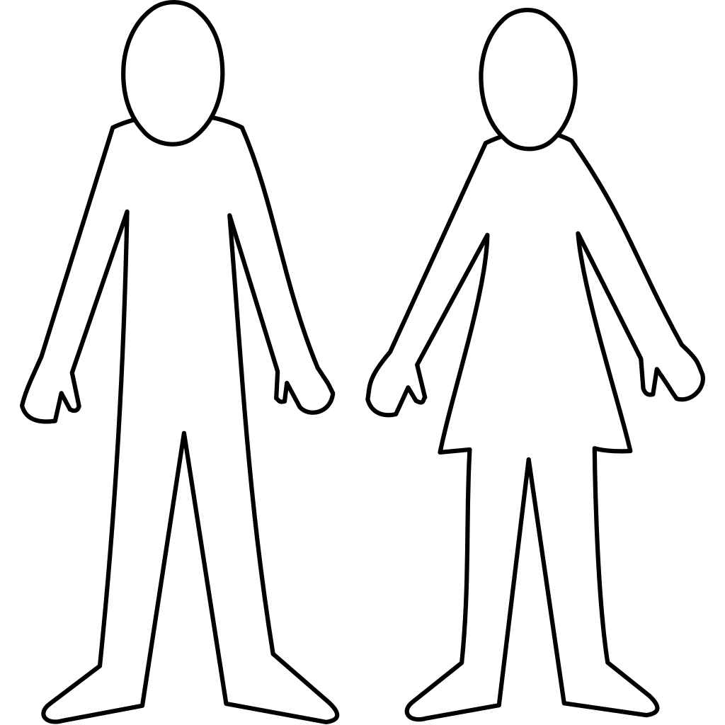 Blue Man And Woman SVG Clip arts