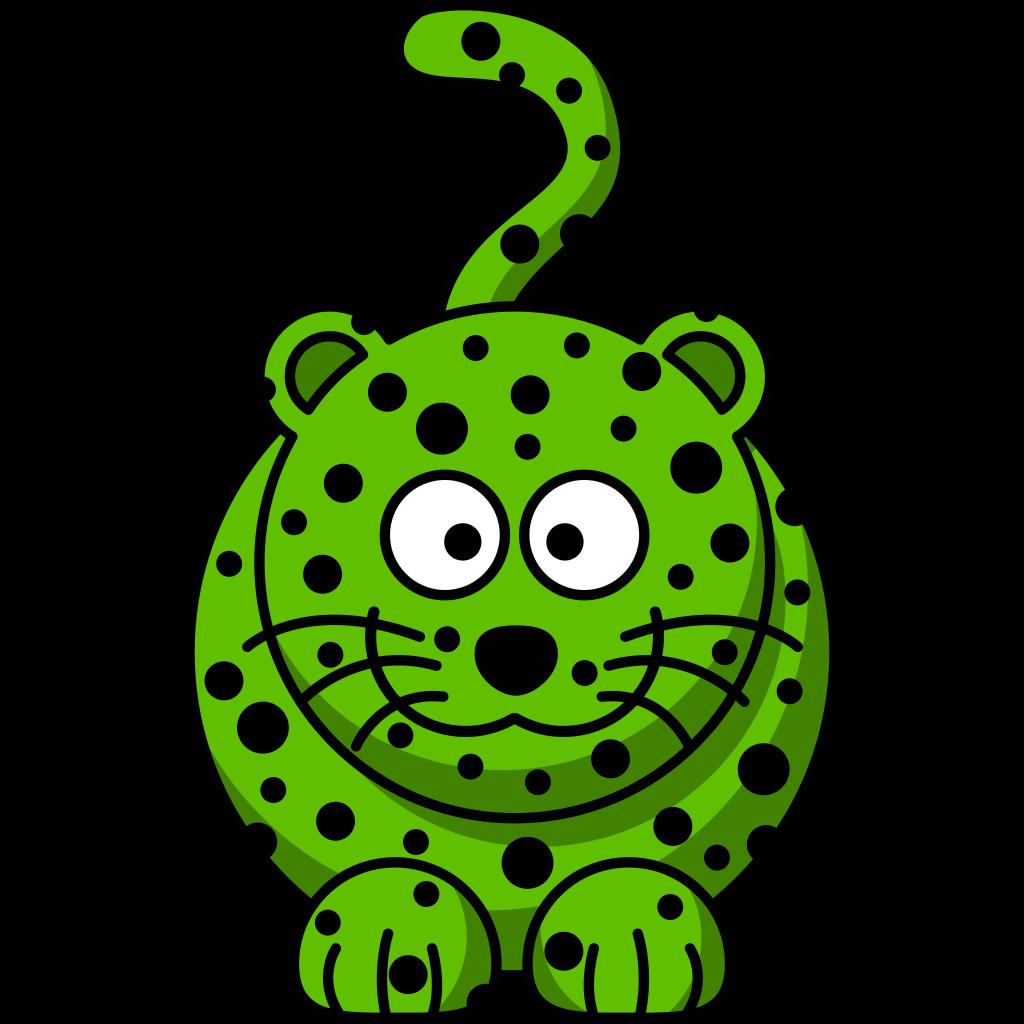Green Leopard SVG Clip arts