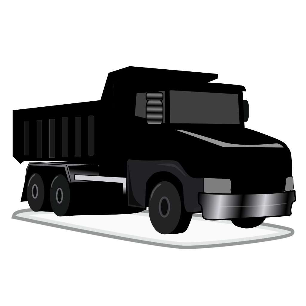 Black Gray Dump Truck SVG Clip arts