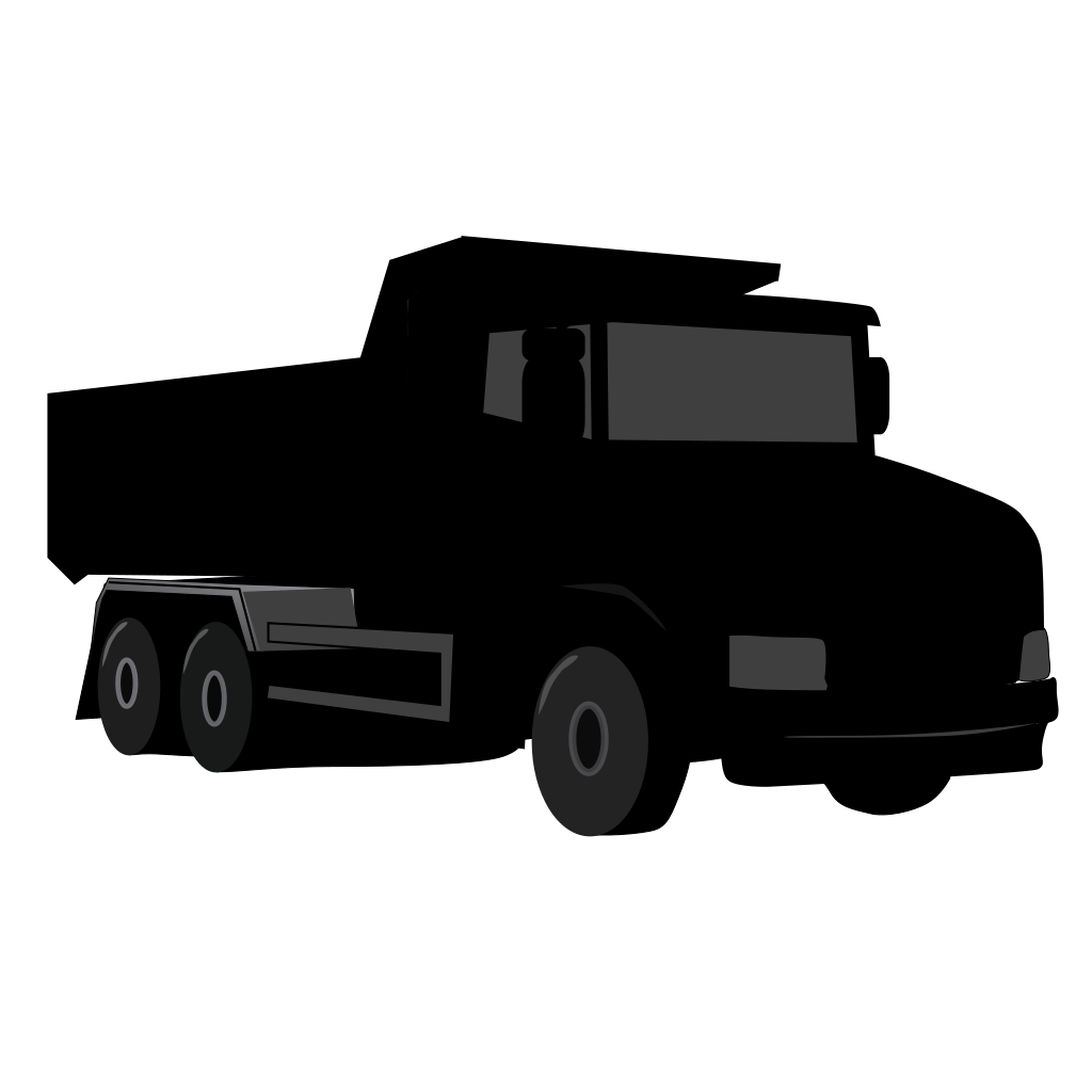 Black Gray Dump Truck 3 SVG Clip arts