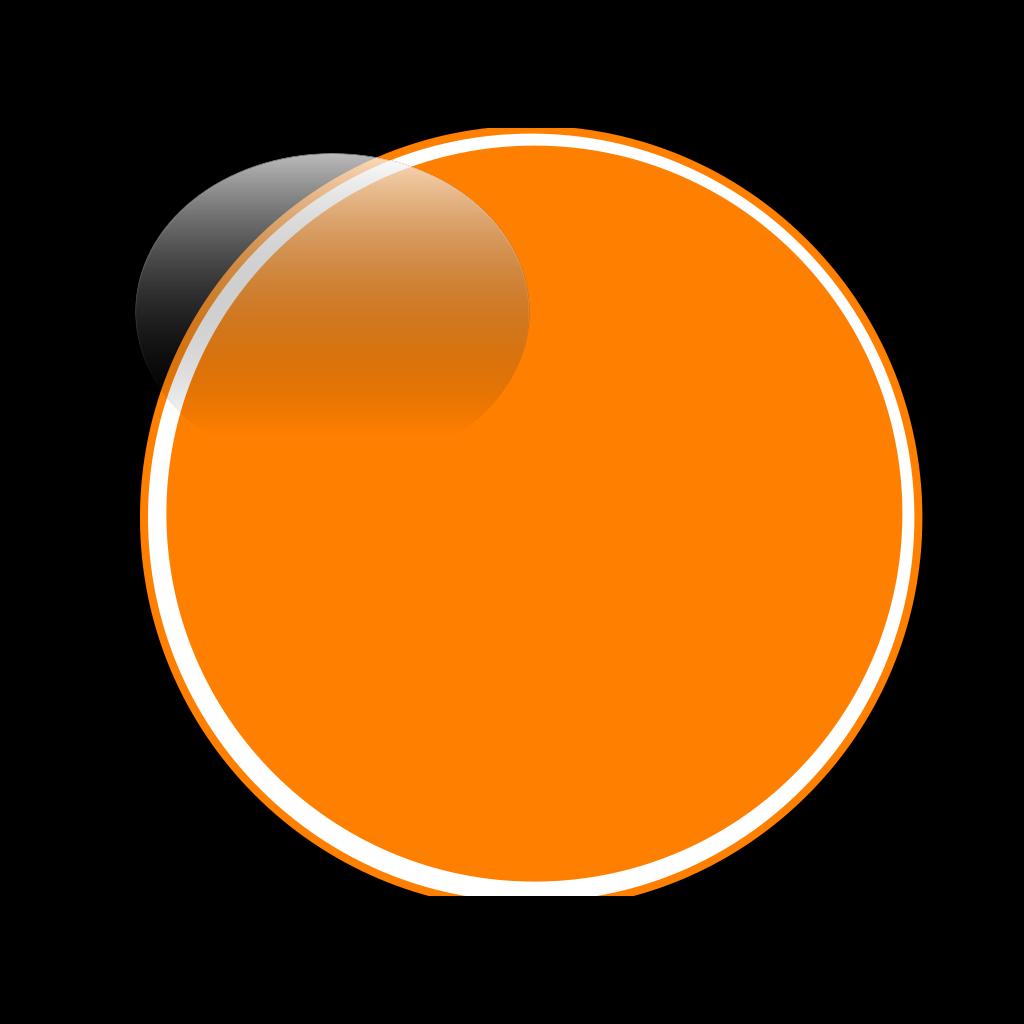 Glossy Orange Button SVG Clip arts