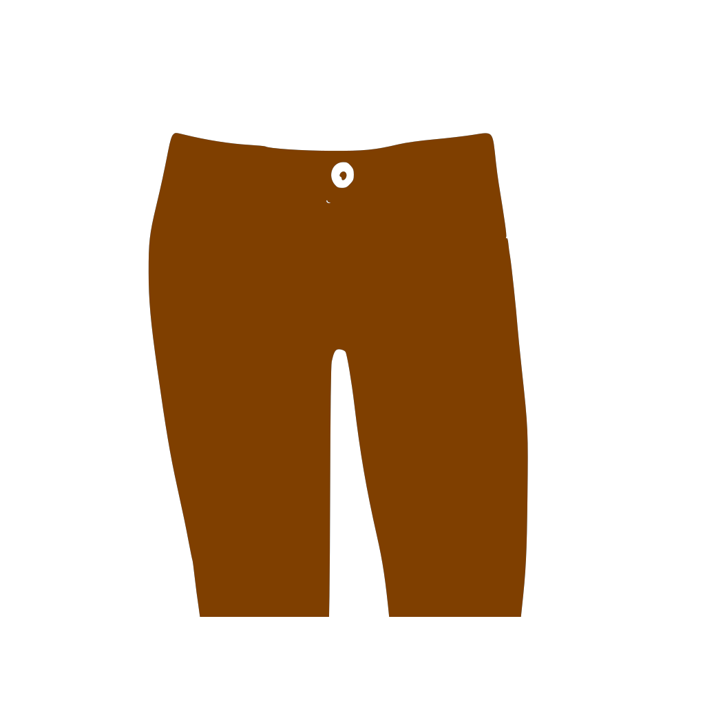 Brown Pants SVG Clip arts