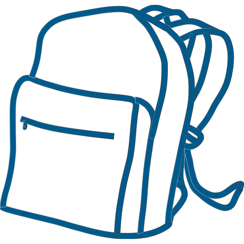 Blue Backpack SVG Clip arts