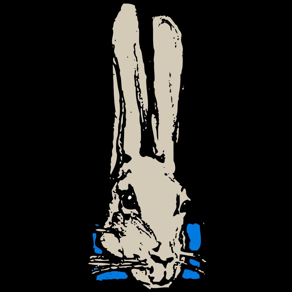Rabbit Head SVG Clip arts