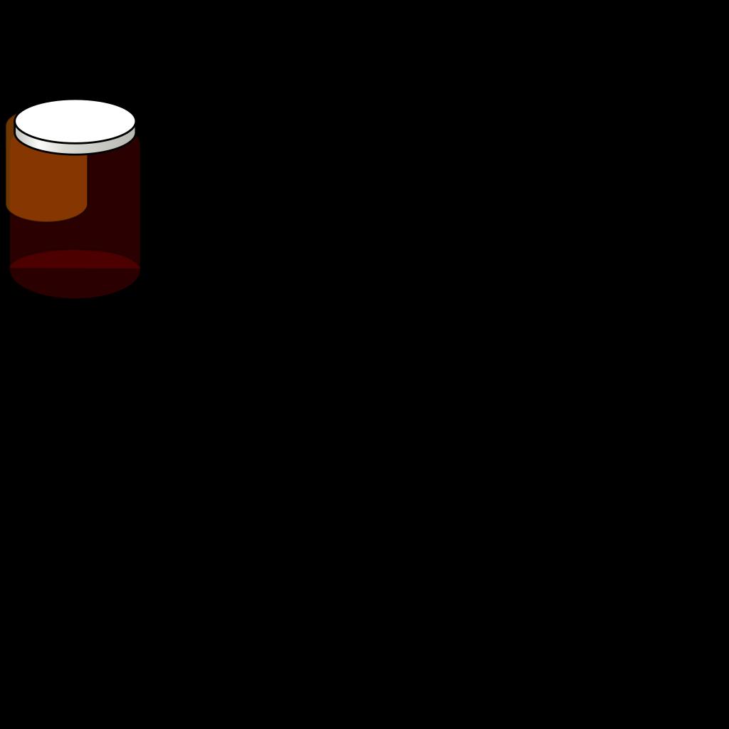 Orange Jar SVG Clip arts