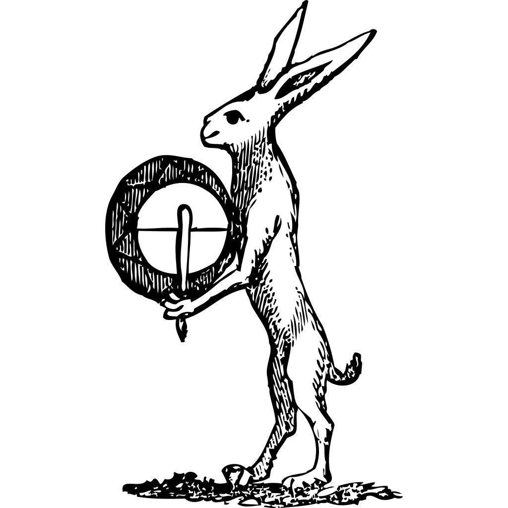 Rabbit Drummer SVG Clip arts