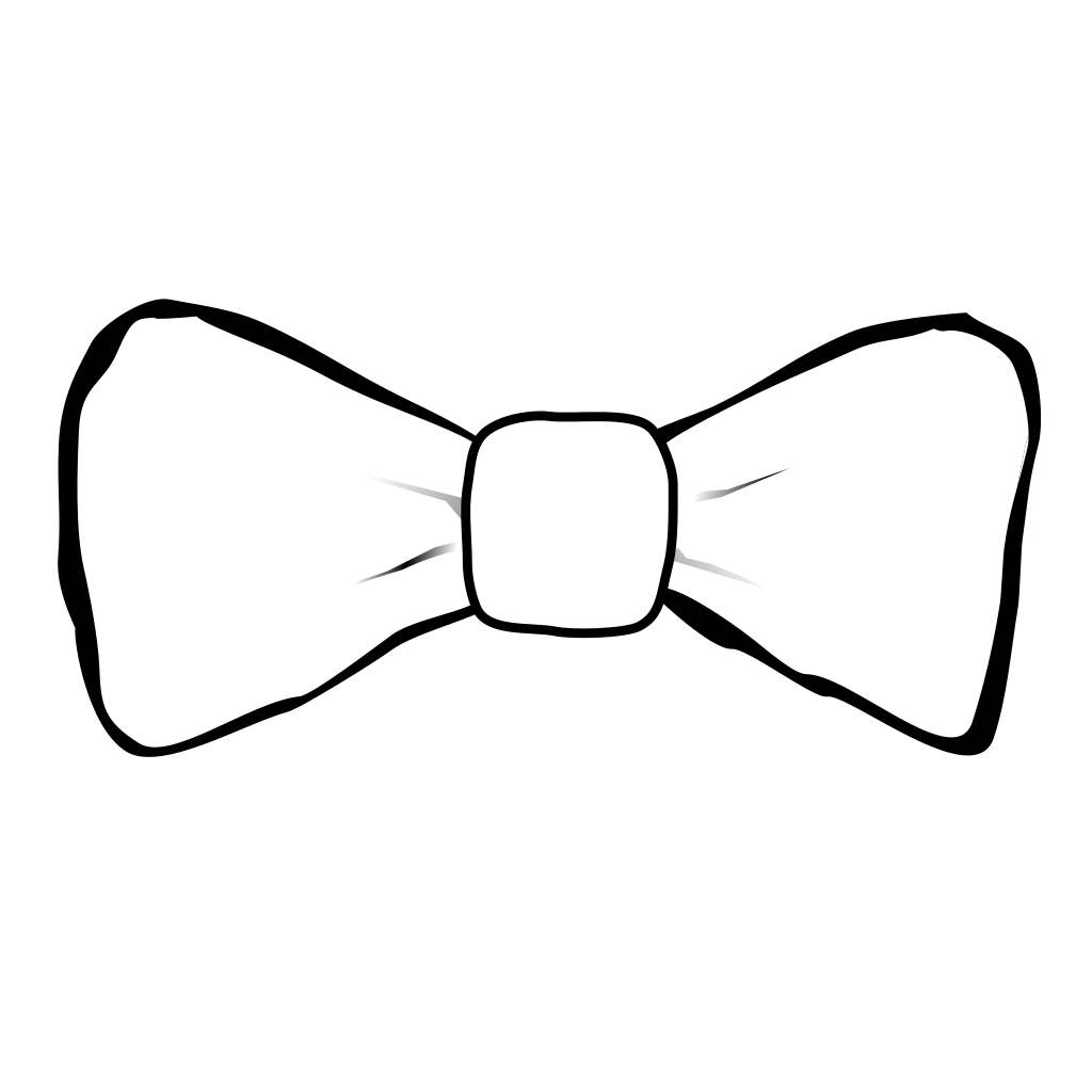 Pig With White Bowtie SVG Clip arts