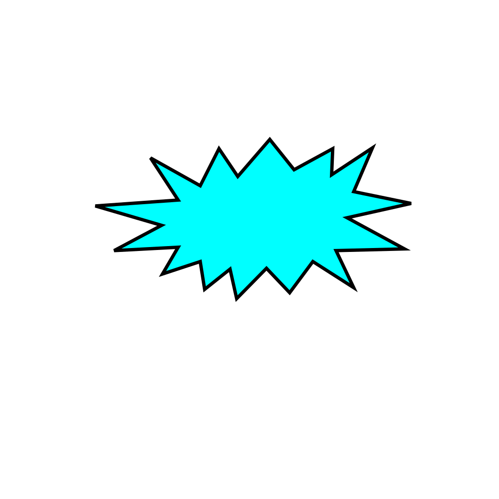 Cartoon-star-voice-bubble SVG Clip arts