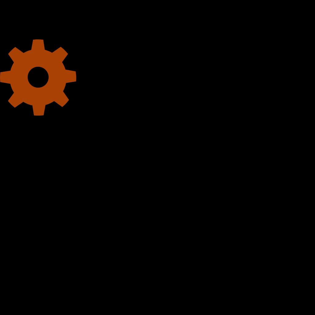 Brown Gear Icon SVG Clip arts