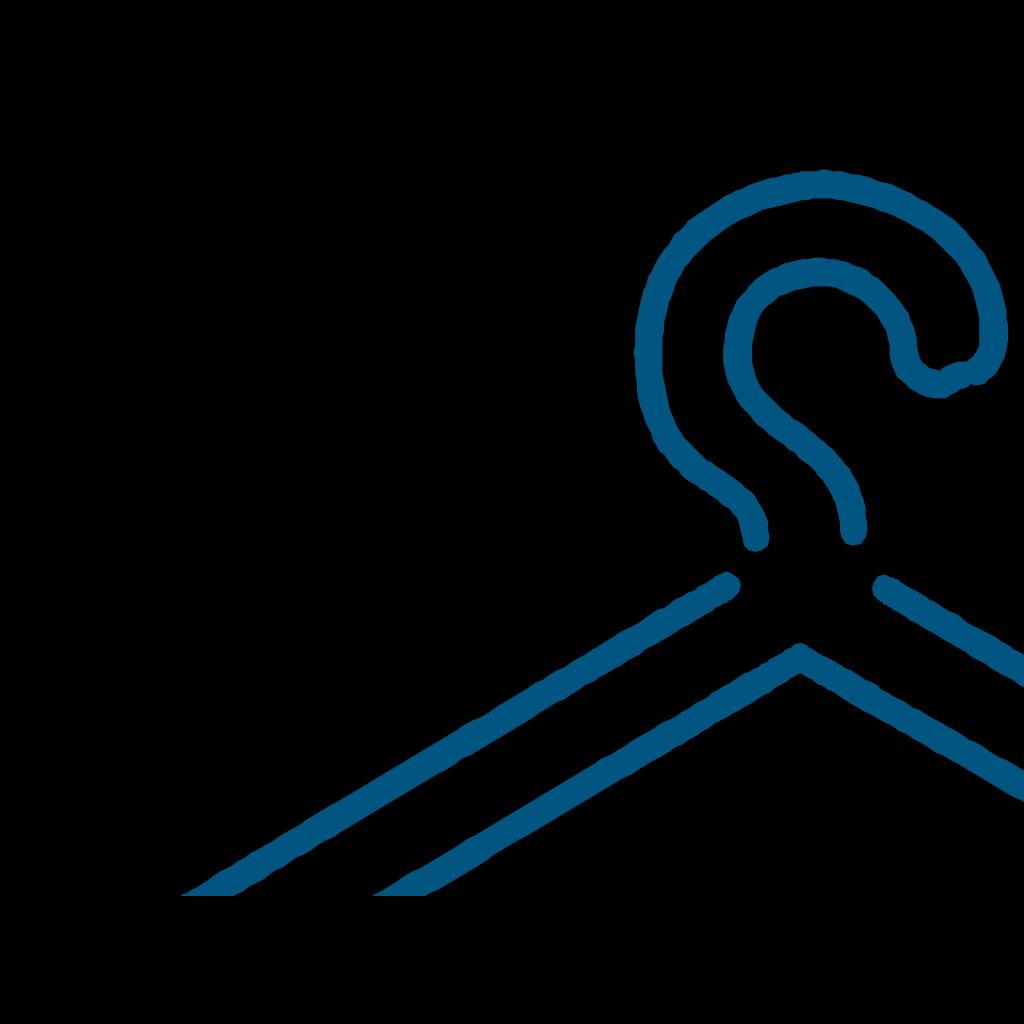 Blue Dress Hanger SVG Clip arts
