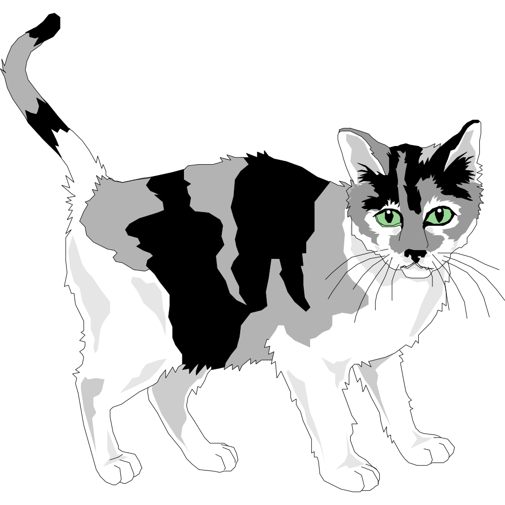 Black And Gray Cat Png Svg Clip Art For Web Download Clip Art Png Icon Arts