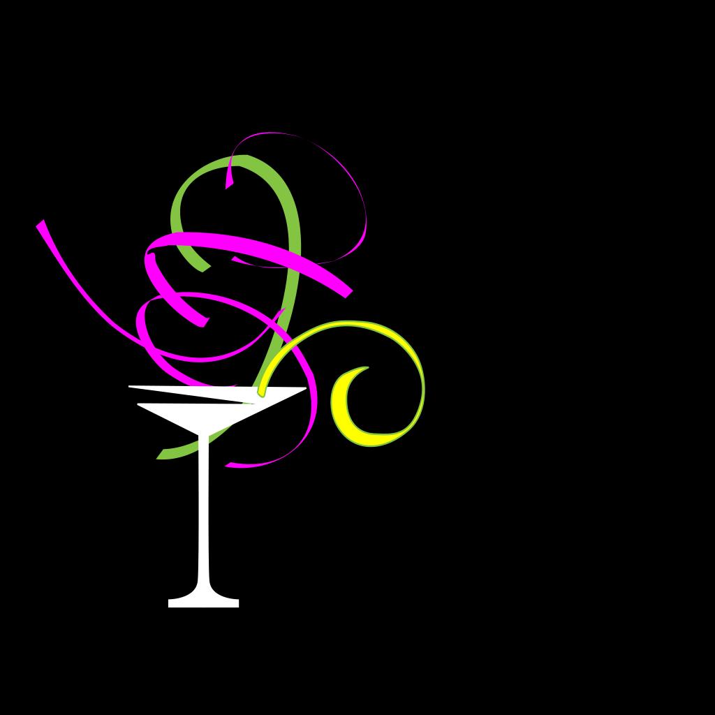 Martini Glass SVG Clip arts