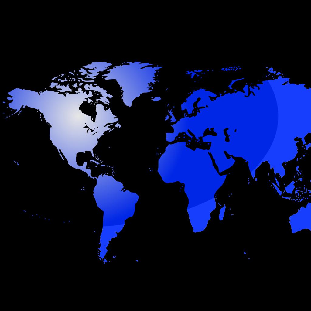 3D Globe Blue SVG Clip arts