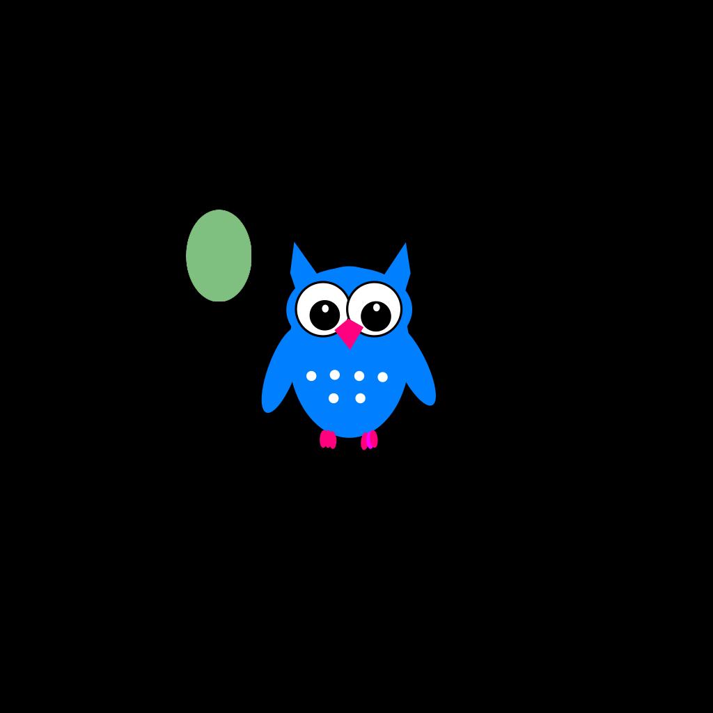 Owls clipart green