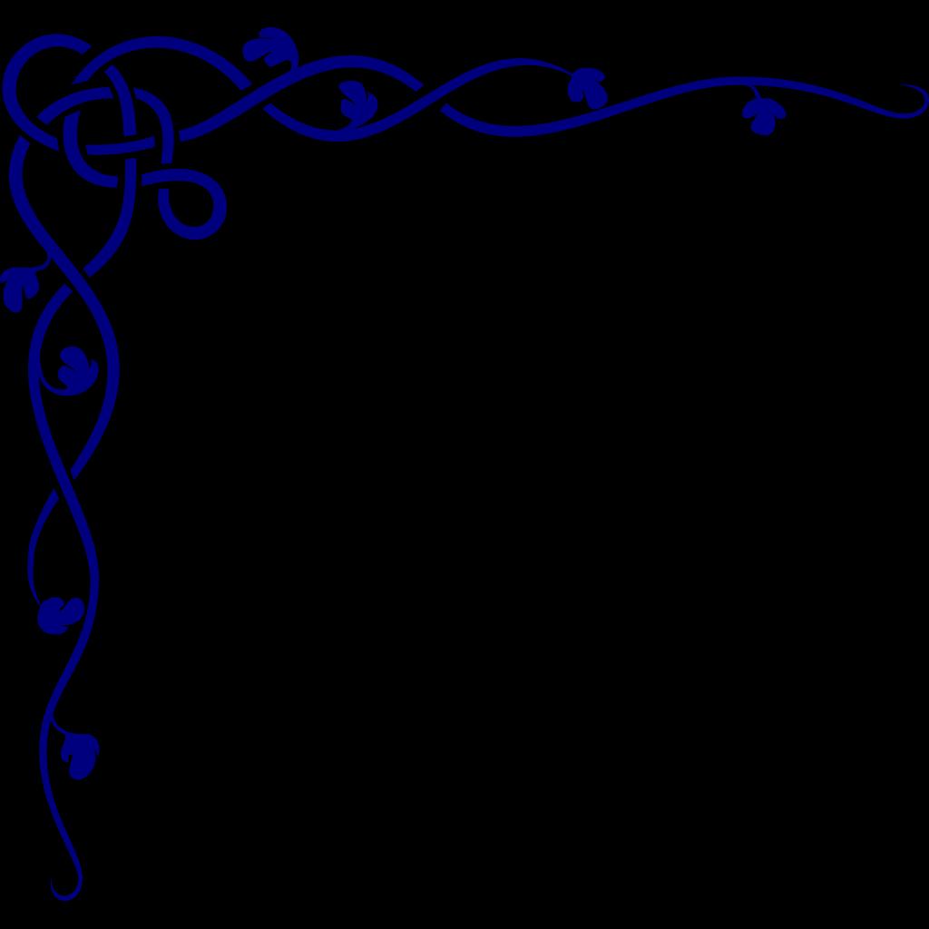 Royal Blue Celtic Corner SVG Clip arts