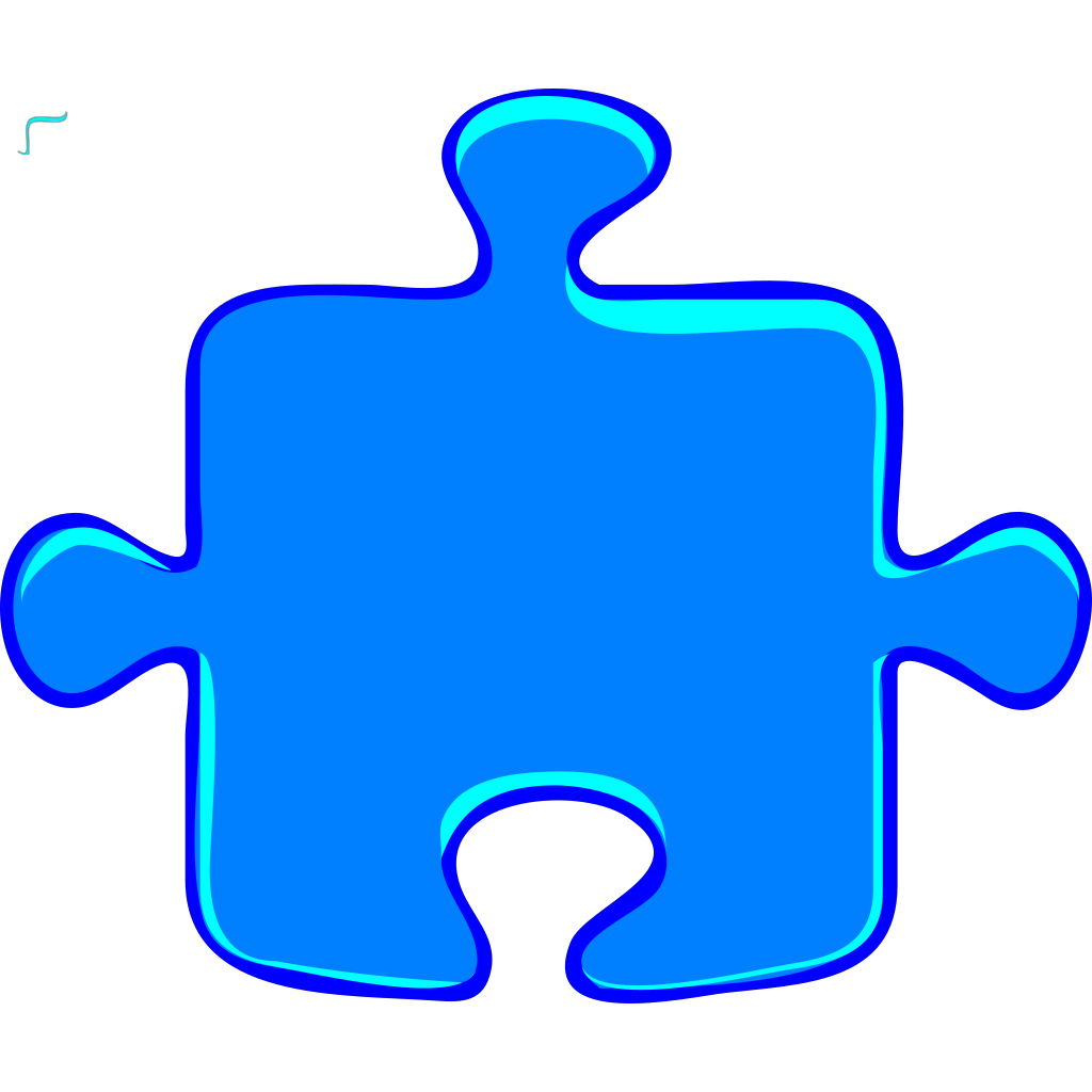 Puzzle Light Blue SVG Clip arts