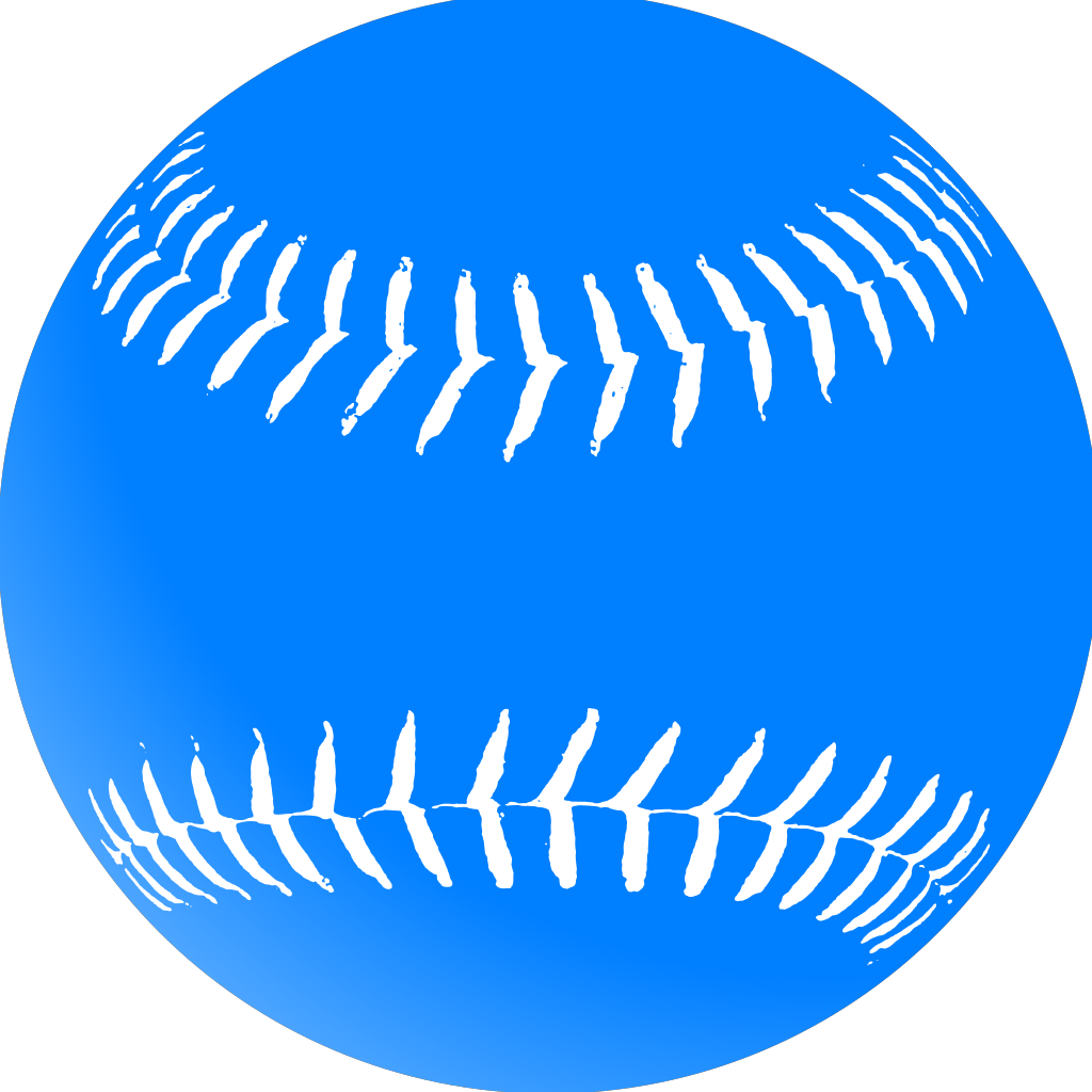 Blue Softball SVG Clip arts