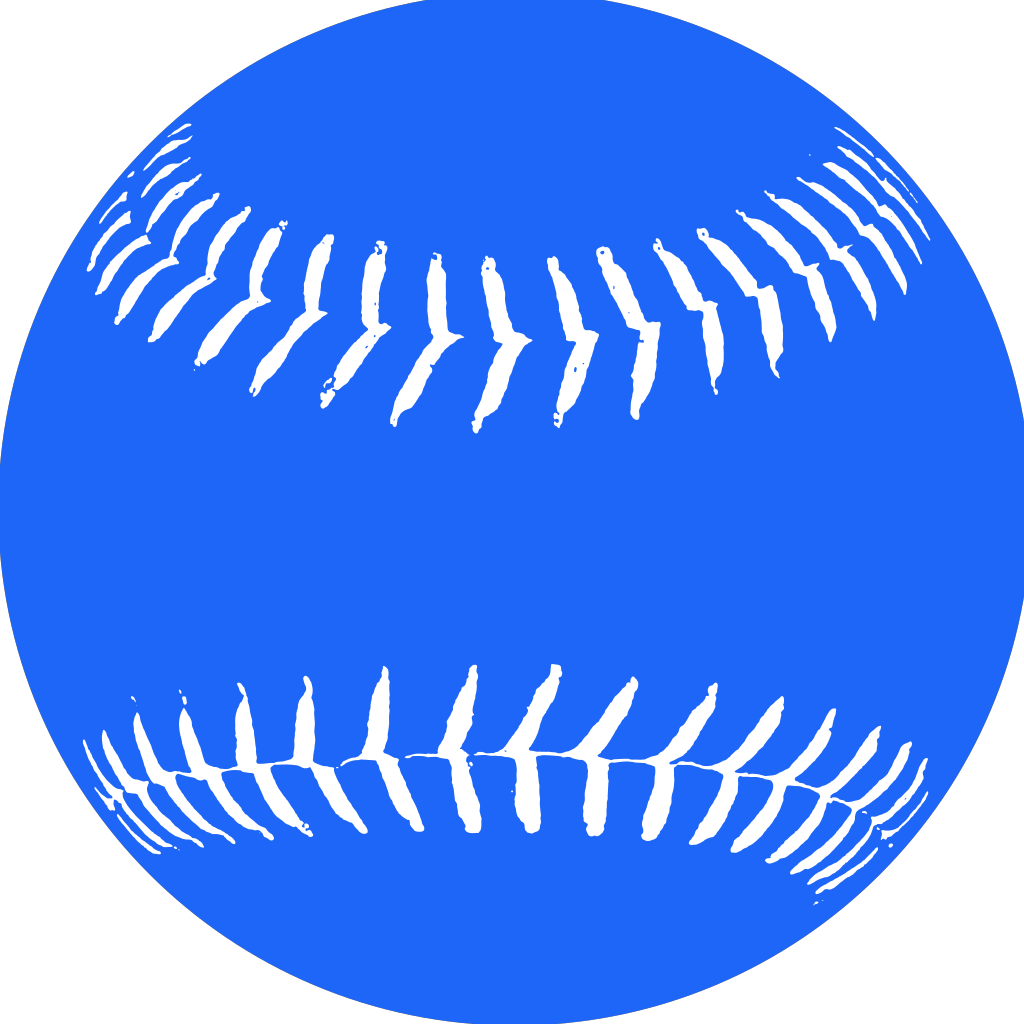 Blue Softball 2 SVG Clip arts