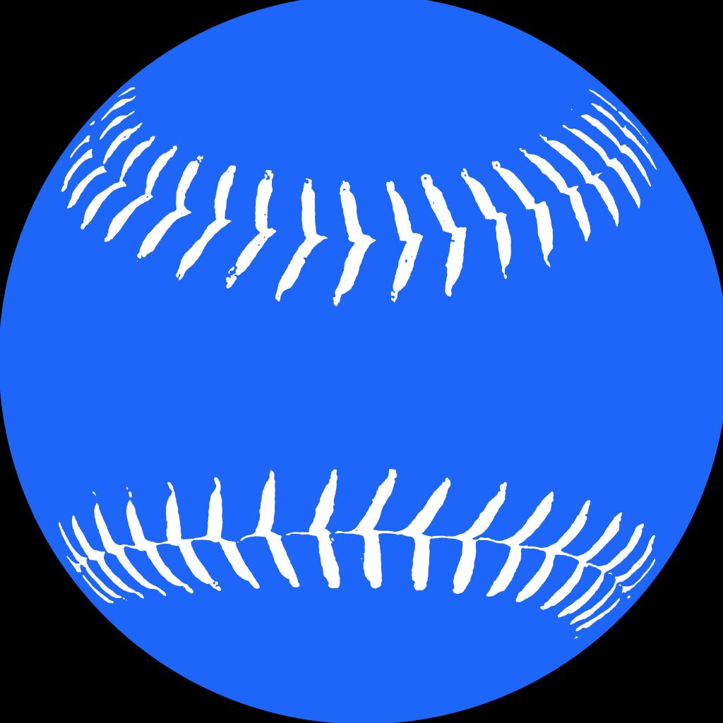 Blue Softball 2 SVG Clip arts