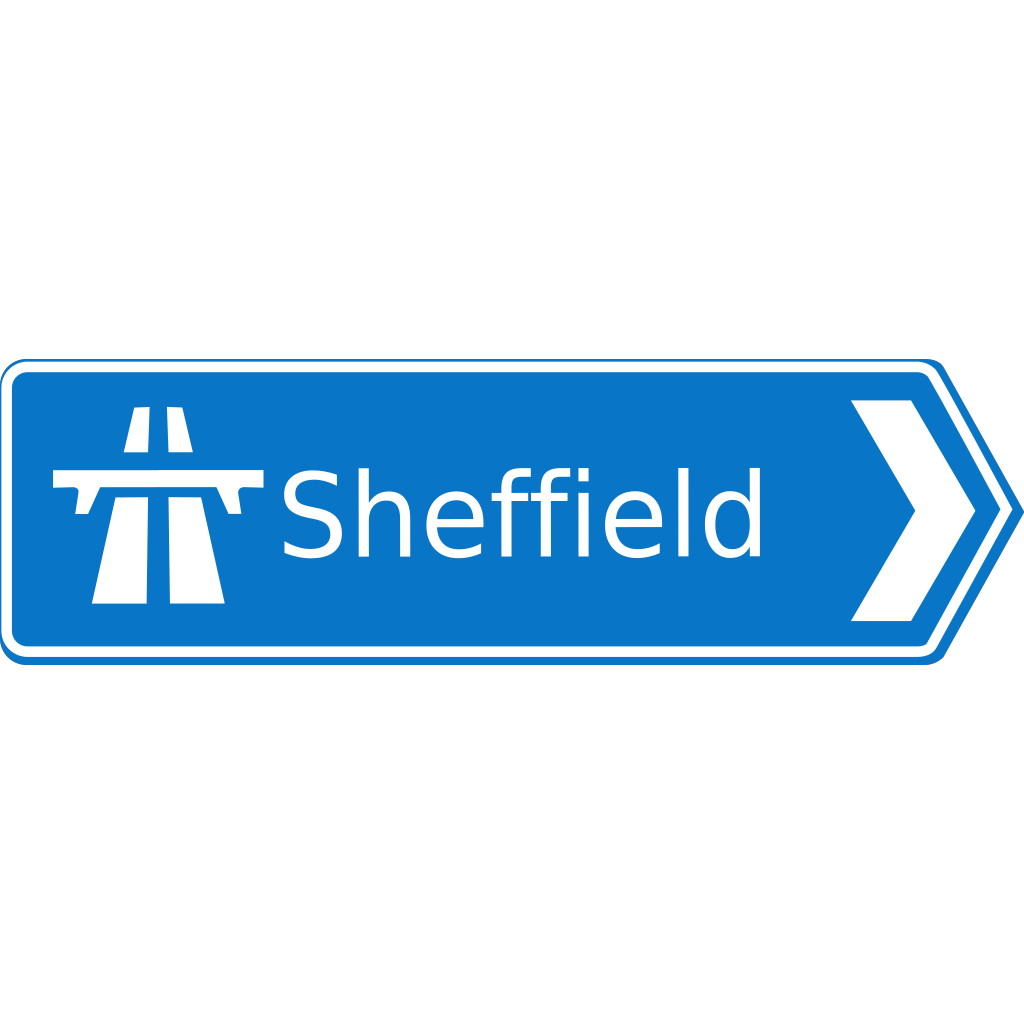 Motorway Sign SVG Clip arts