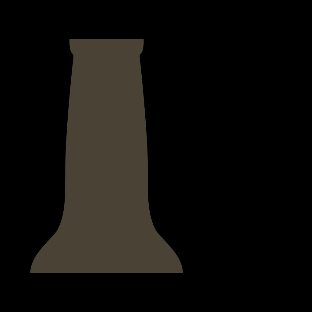 Beer Bottle Brown SVG Clip arts