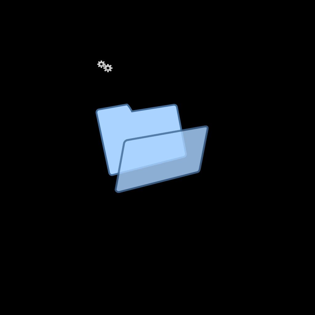 Blue Clipart Folder SVG Clip arts