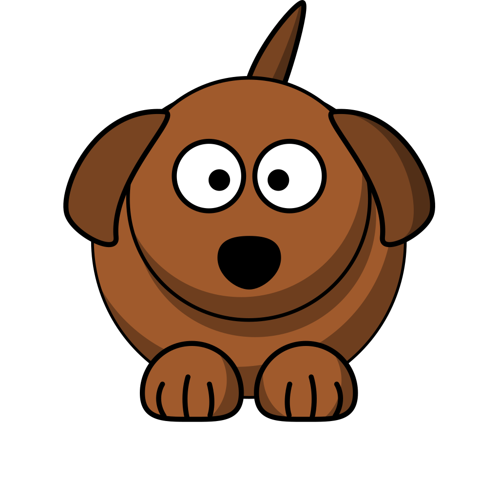 Cartoon Dog Without Bone SVG Clip arts