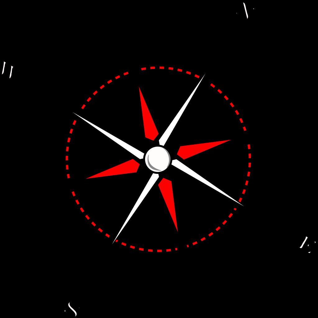 Red Black Compass SVG Clip arts