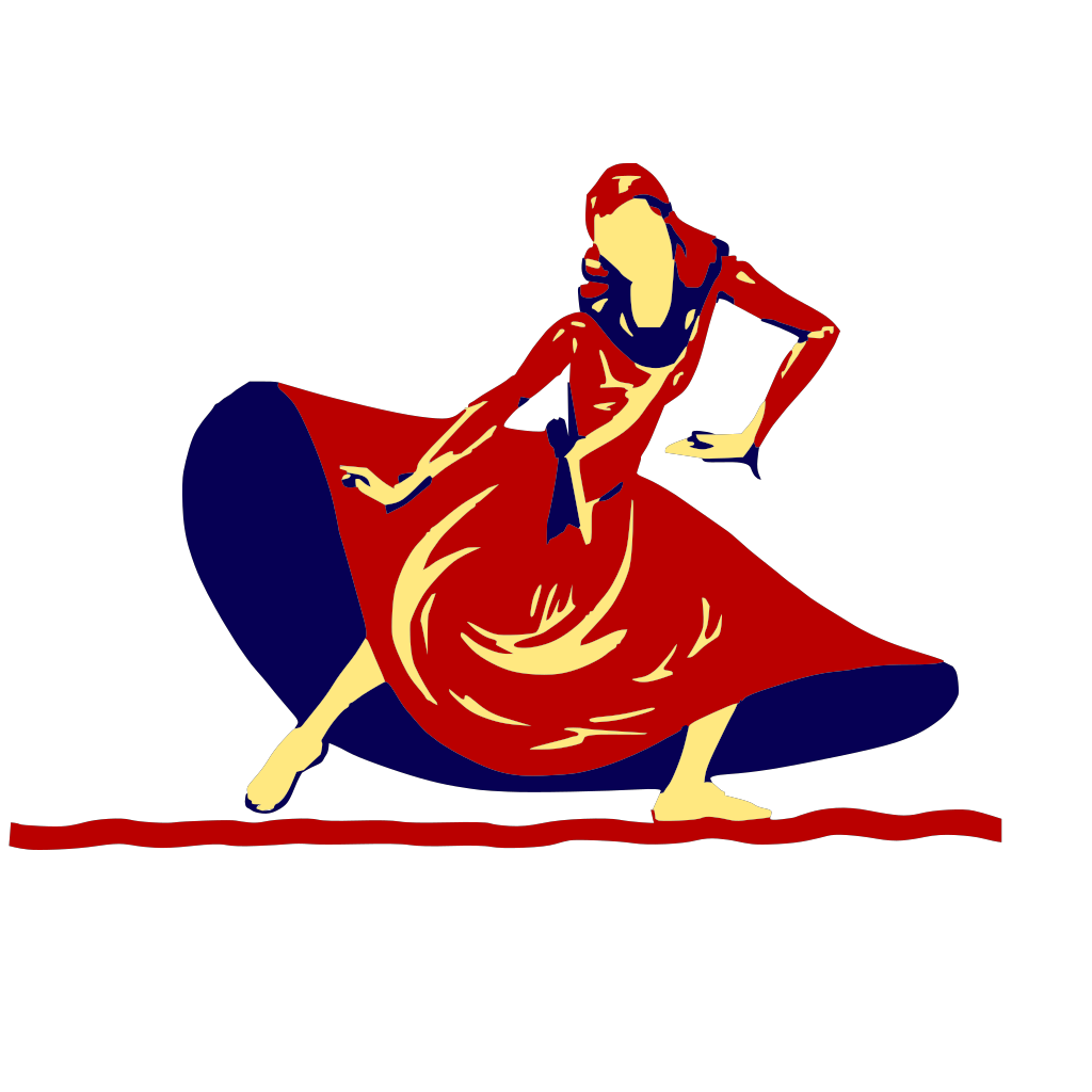 Lady Dancing In Festival SVG Clip arts
