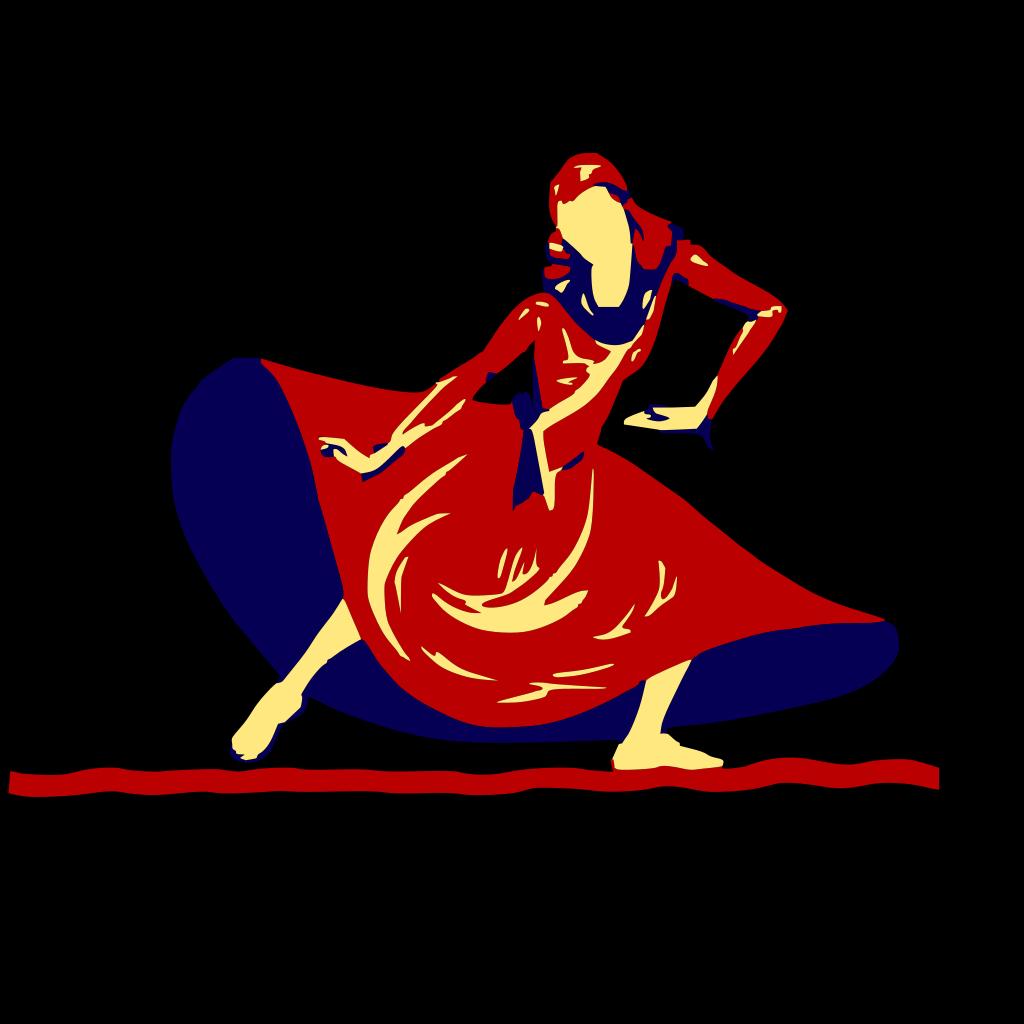 Lady Dancing In Festival SVG Clip arts