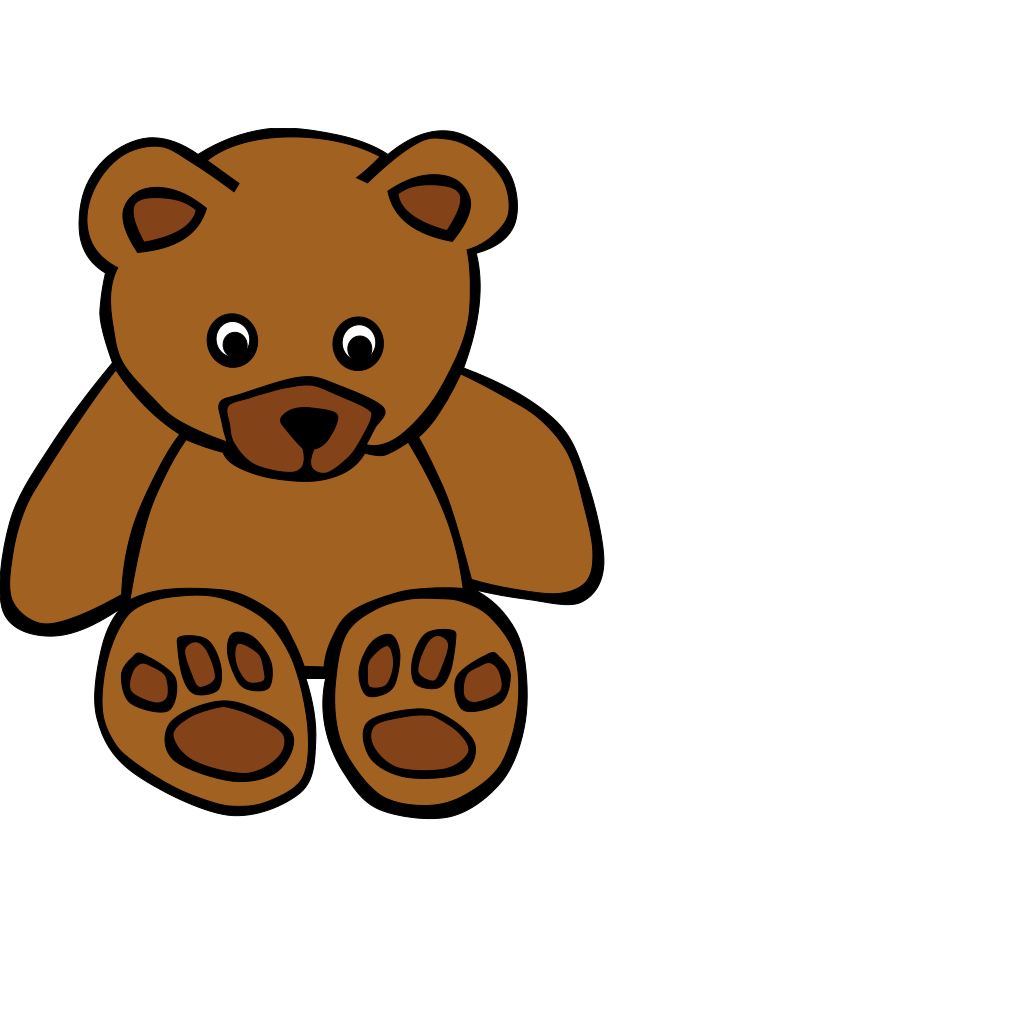 Baby Brown Bear SVG Clip arts