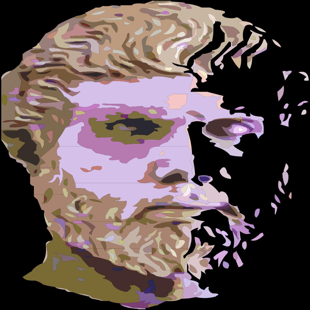 Man Head SVG Clip arts