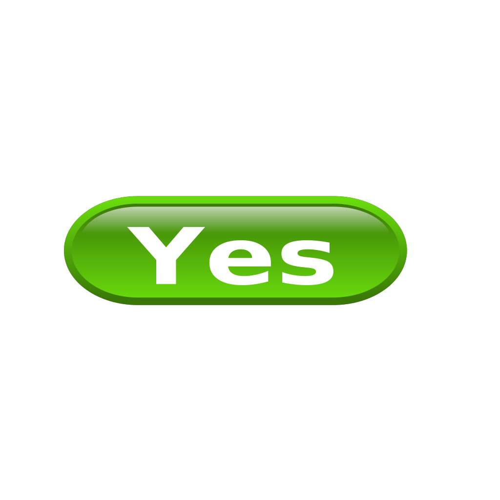 Green Yes SVG Clip arts
