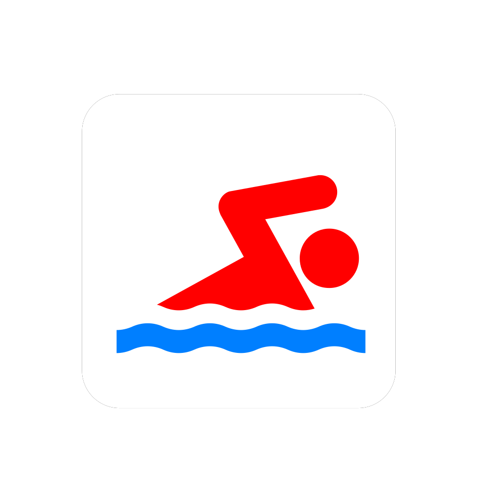 Blue Swimmer Icon SVG Clip arts