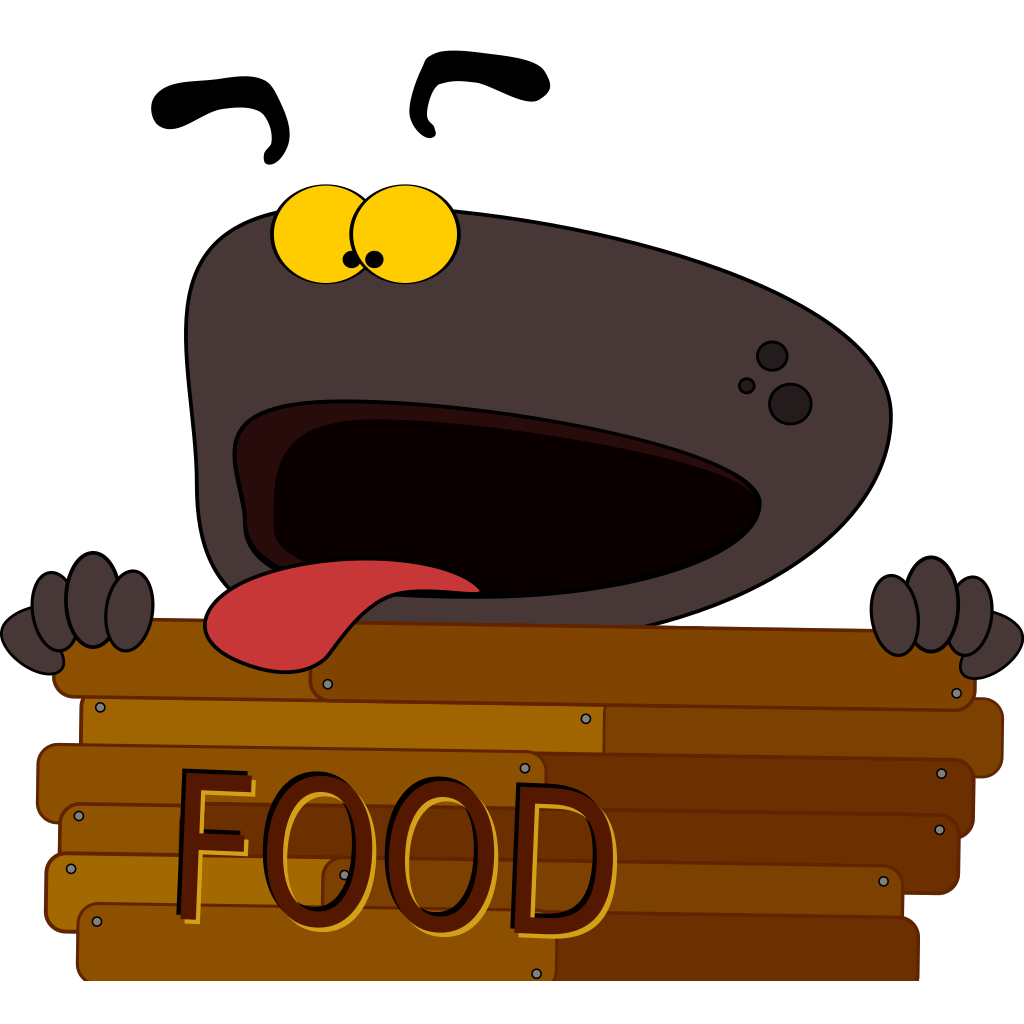 Hungry Dog Character SVG Clip arts