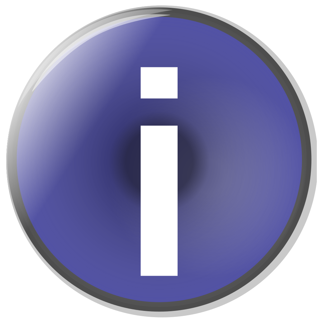 Blue Circle Info Button SVG Clip arts
