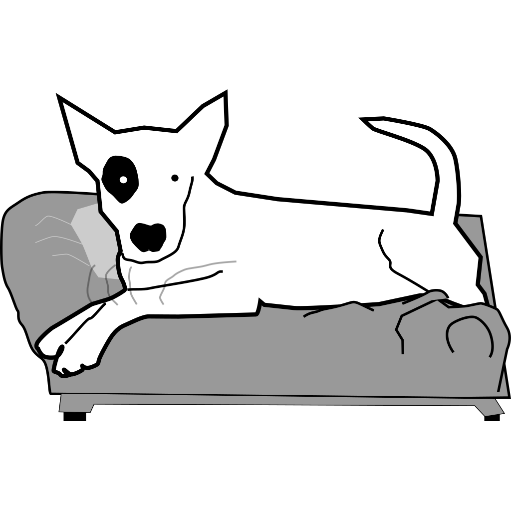 Bullterrier On Couch SVG Clip arts