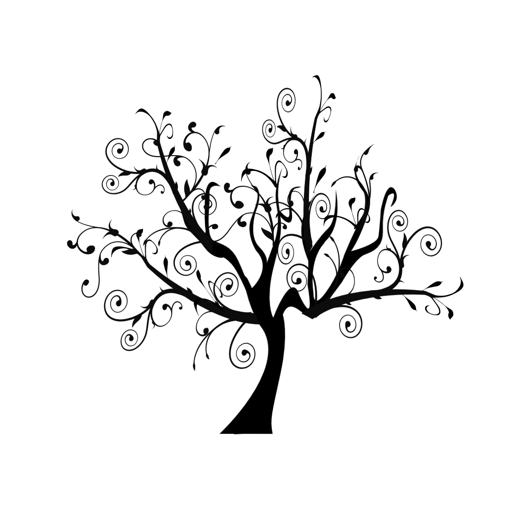Branch Vine Swirl Tree SVG Clip arts