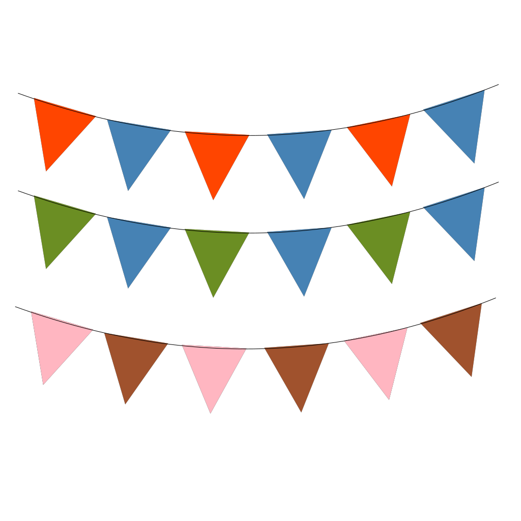 Black Bunting SVG Clip arts