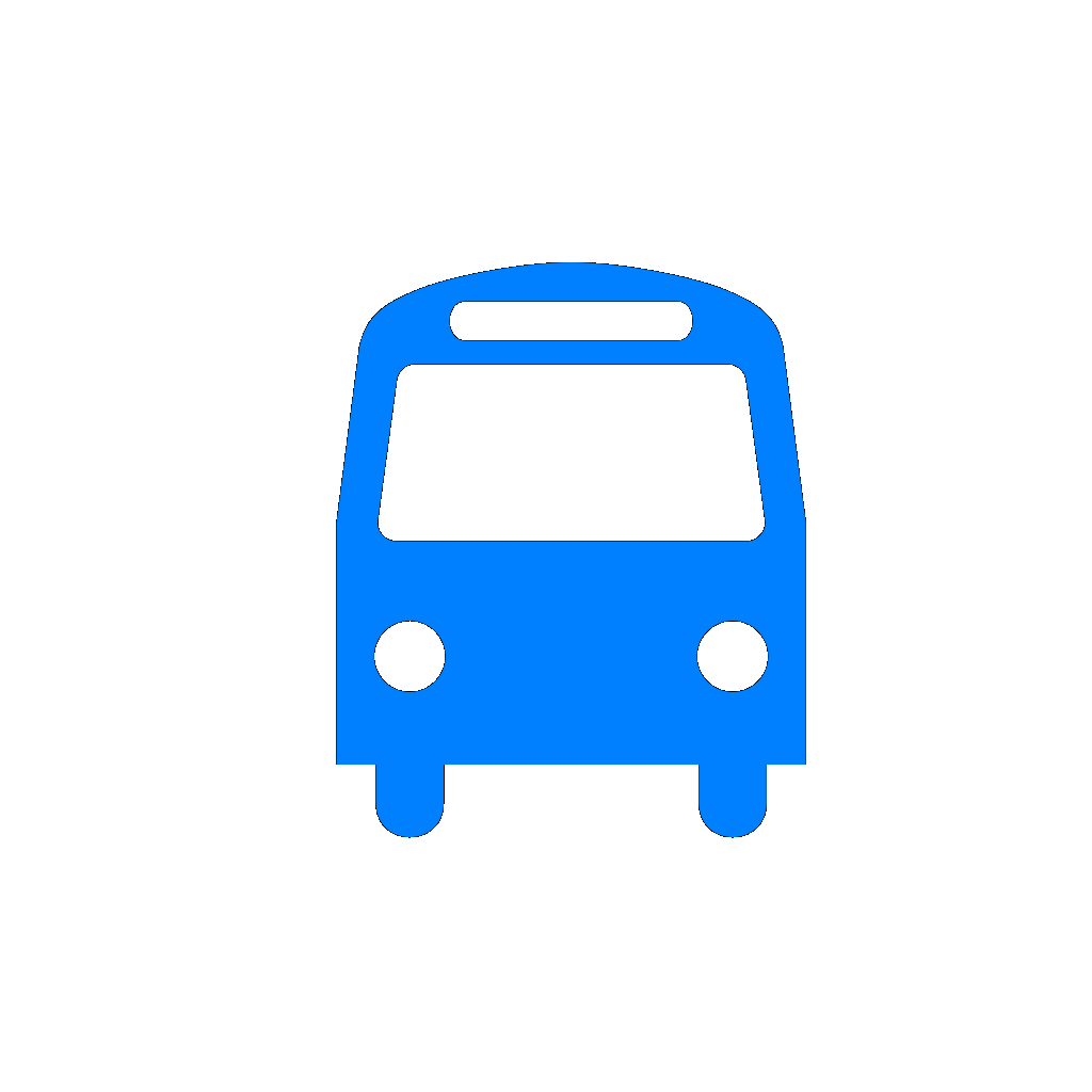 Blue Bus SVG Clip arts