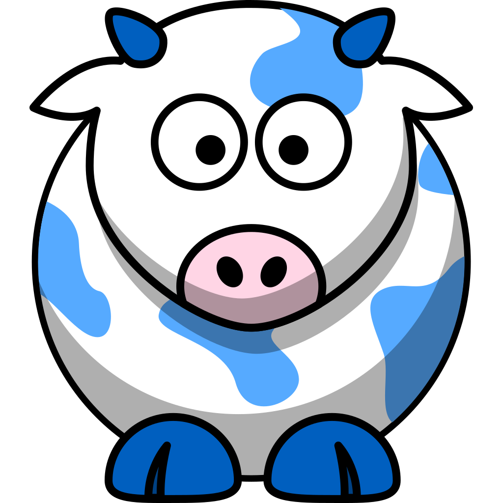 Blue Cow SVG Clip arts