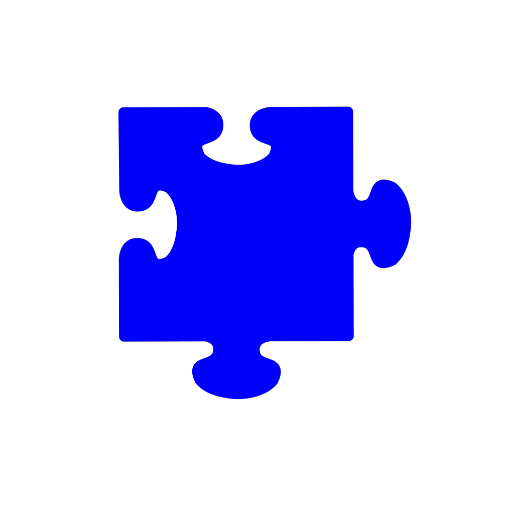 Blue Puzzle Piece svg