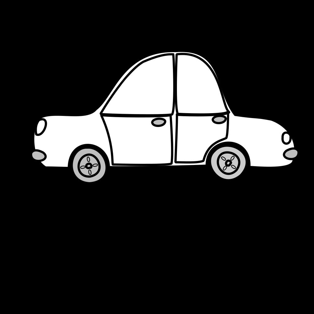 Car Outline SVG Clip arts