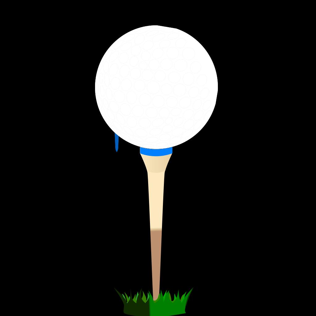 Golf Ball Blue Tee SVG Clip arts