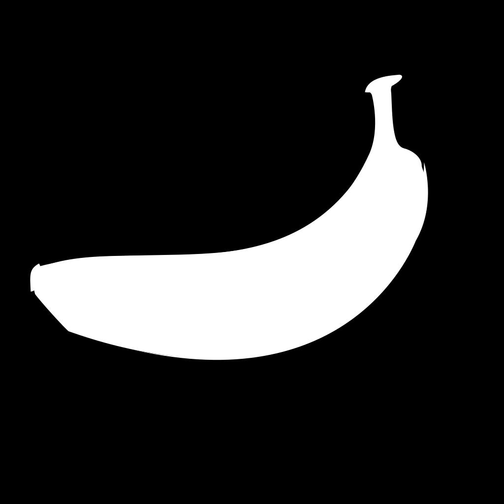 Banana Outline SVG Clip arts