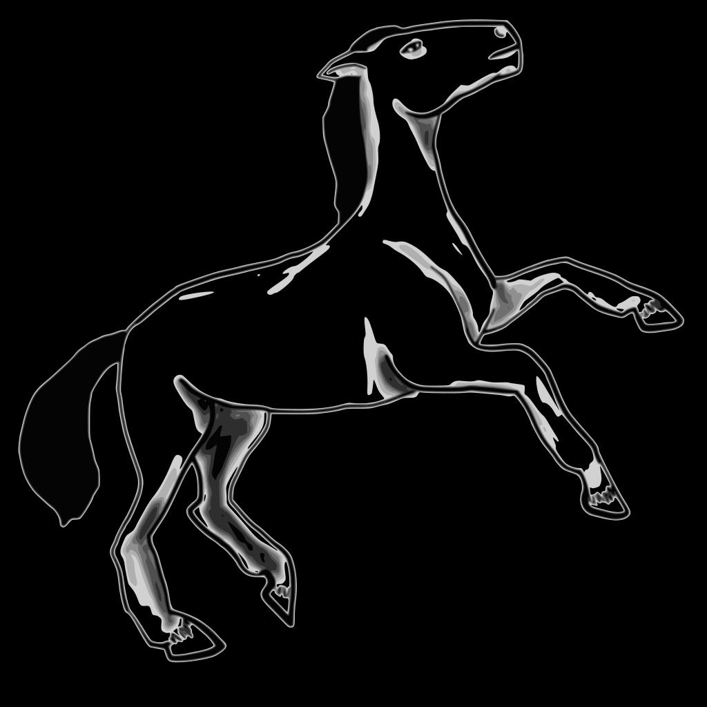 Horse Border SVG Clip arts