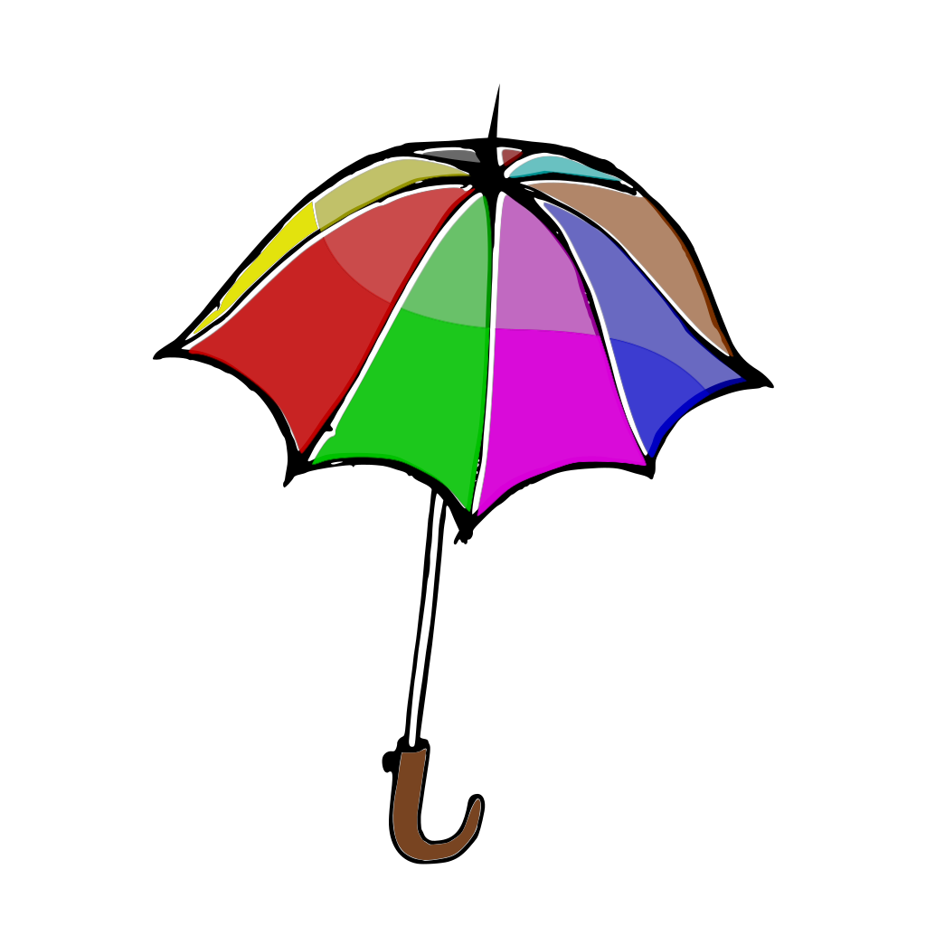 Umbrella SVG Clip arts