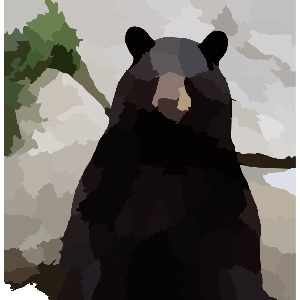 Black Bear SVG Clip arts
